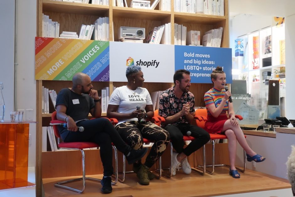 Bold Moves and Big Ideas:  LGBTQ+ Stories of Economic Empowerment In celebration of World Pride Month, Shopify hosted a panel with successful LGBTQ + business owners SHARING stories of economic empowerment.