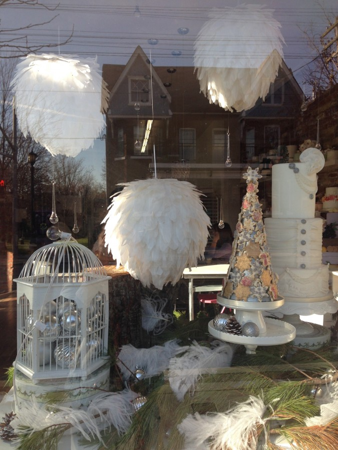 Winter Wonderland Window Display at Le Dolci