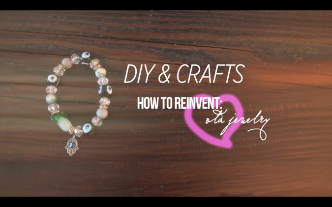 RECYCLE REUSE REINVENT OLD JEWELRY