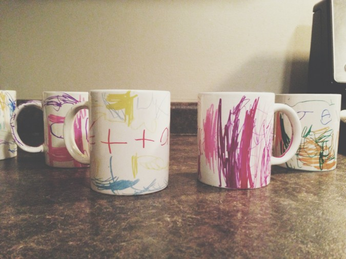 kids sharpie mugs diy